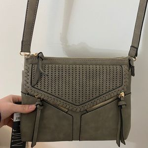 NWT violet ray grey and gold crossbody purse